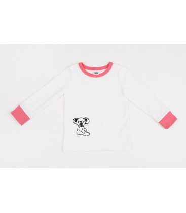 L/s T-shirt The Little Koala with pink details
