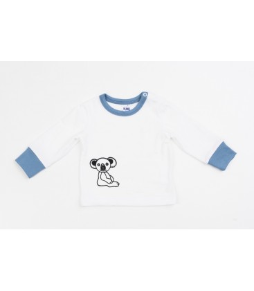 L/s T-shirt The Little Koala with blue details