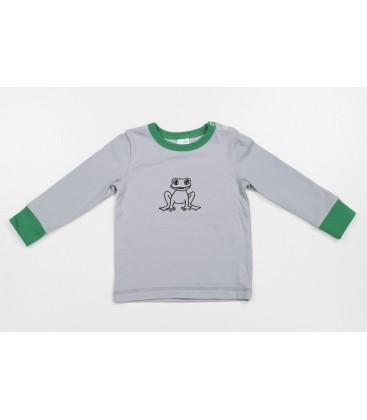 L/s T-shirt Krooks with green details
