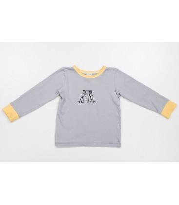 L/s T-shirt Krooks with yellow details